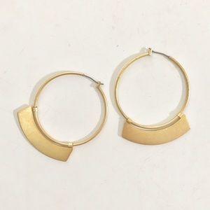 Madewell Jewelry - Madewell crescent hoop earrings